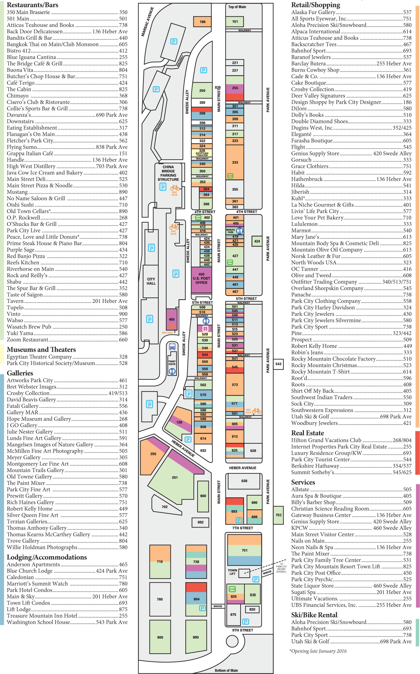 Maps Parking - Map of main